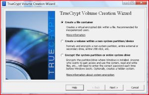 Create An Encrypted File to be the Virtual Encrypted Drive